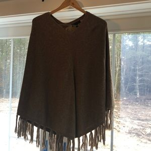 Camel brown colored poncho